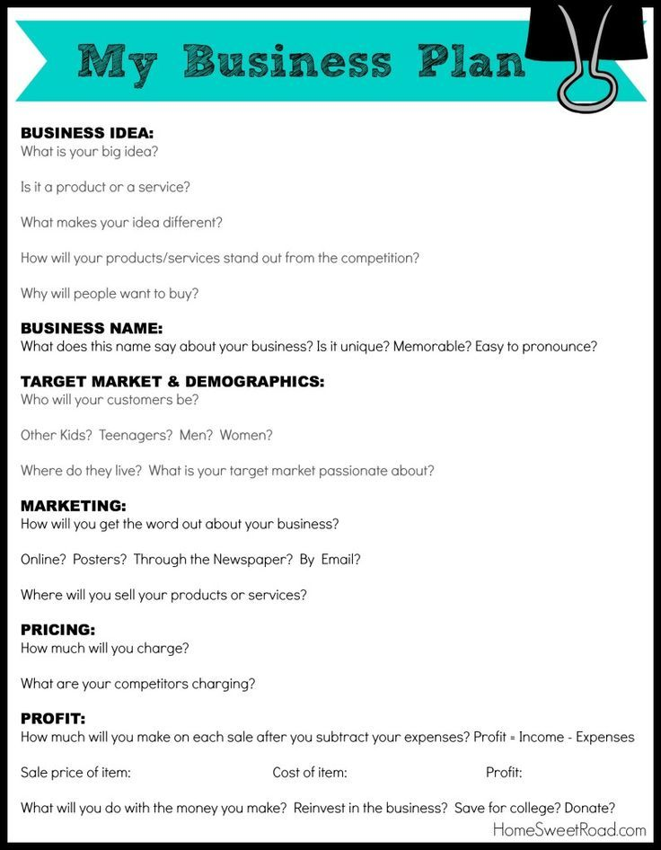 example of business plan format