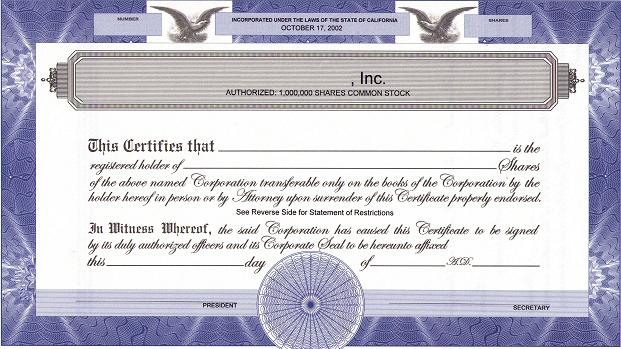 filled out example of shareholders certificate ontario