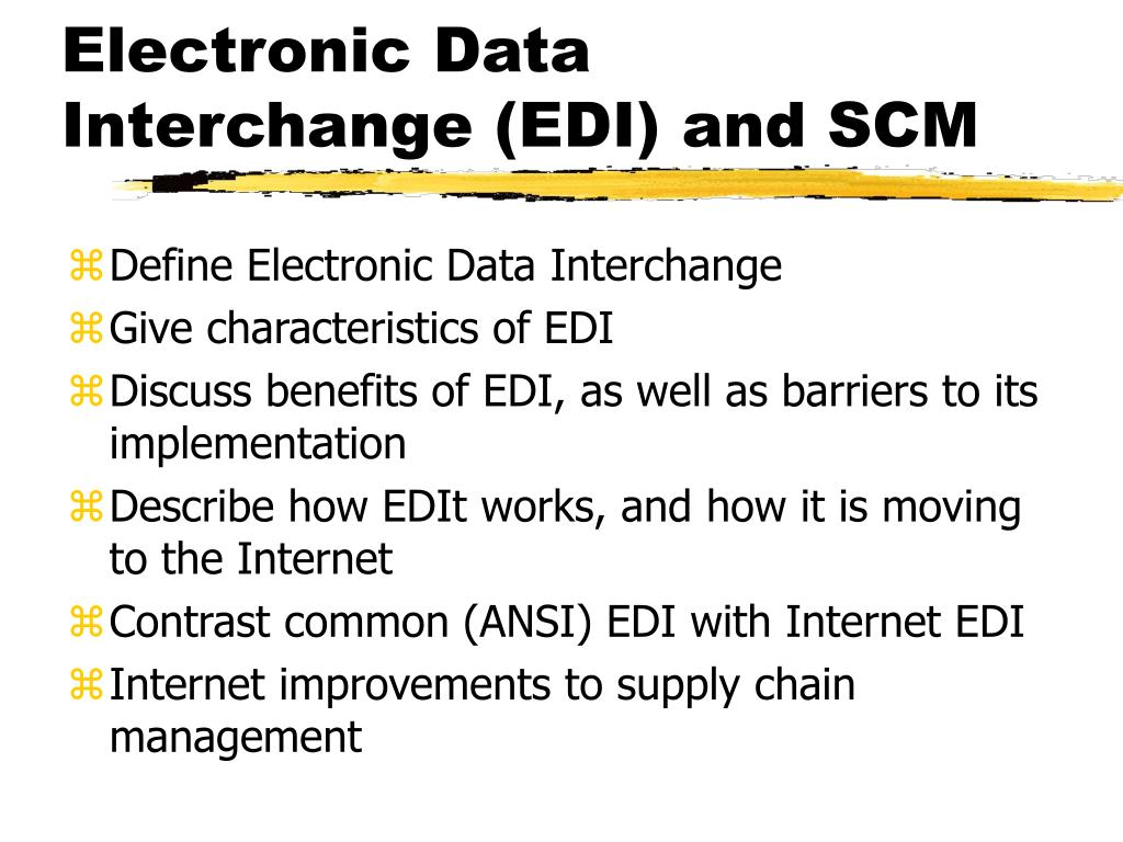 electronic data interchange definition and example