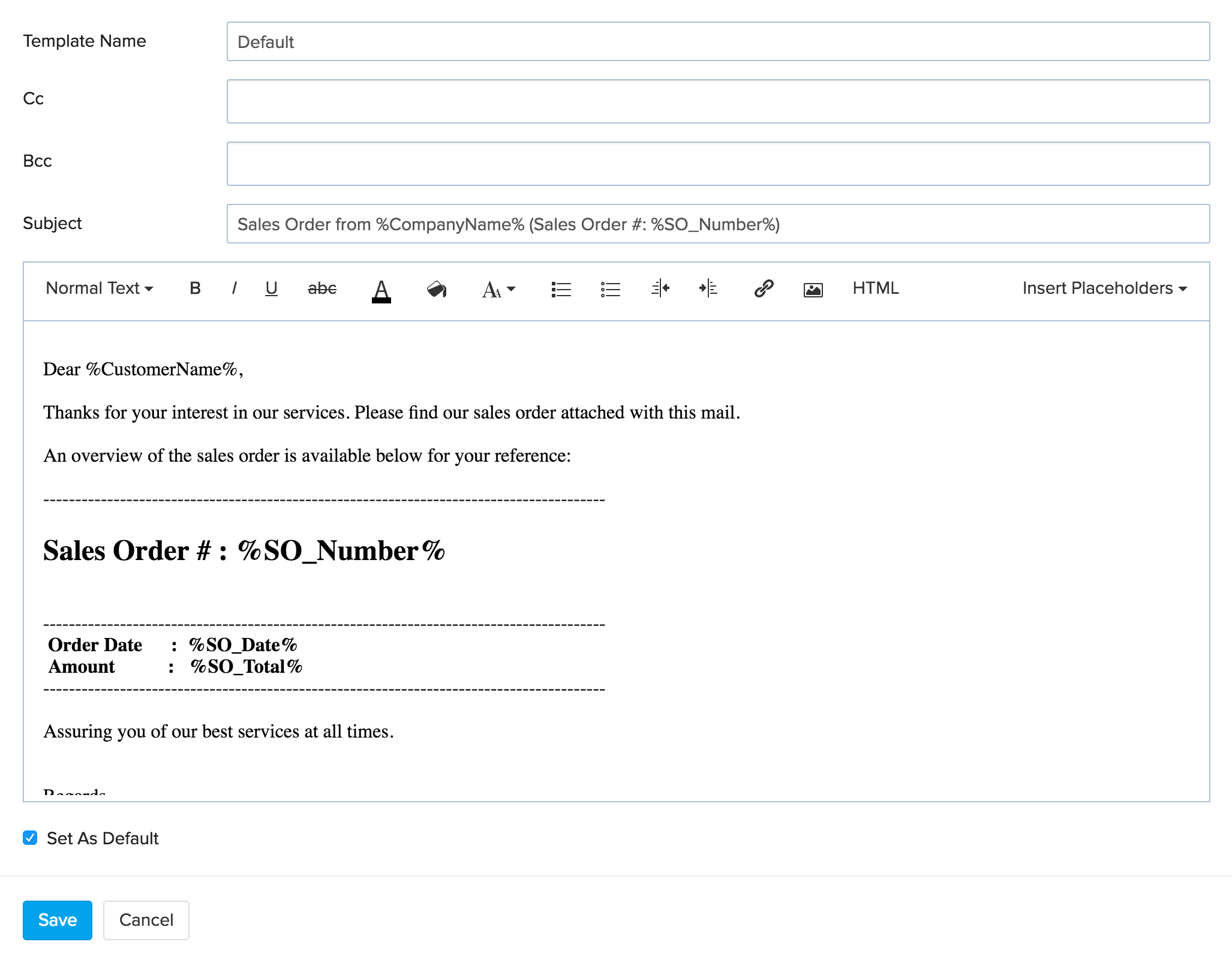 example email a supplier for purchasing furniture