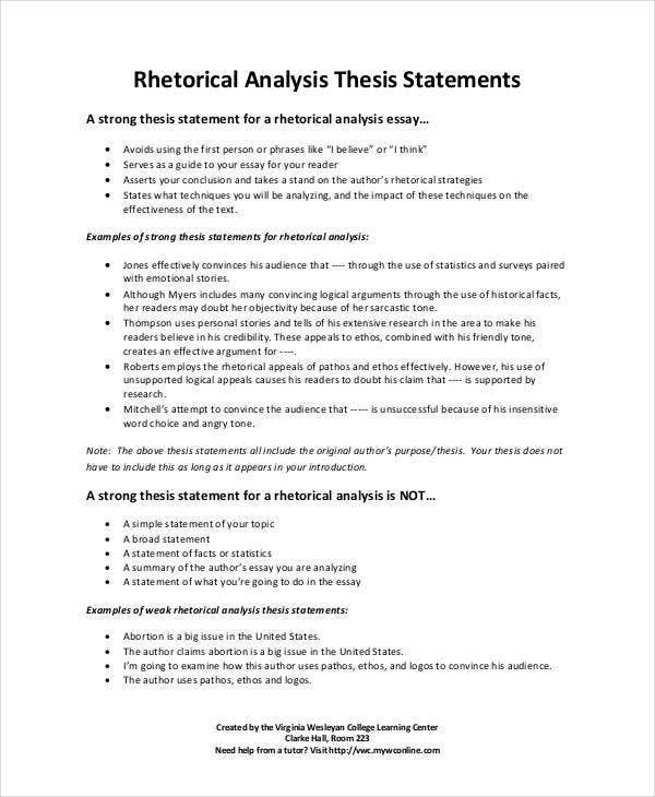 how to make a thesis statement example