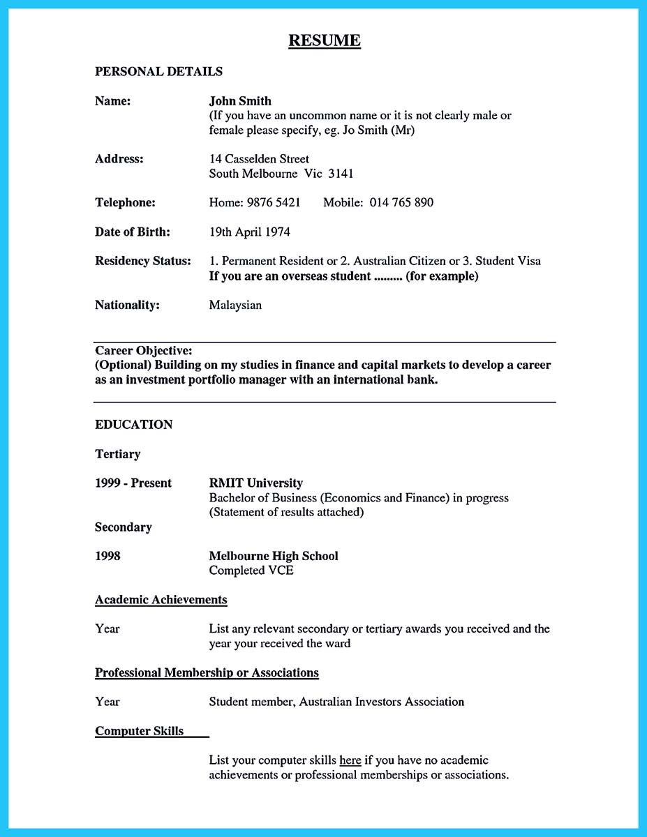 how to write work experience in cv example