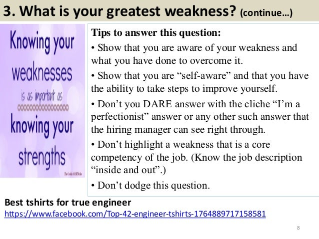 what is your weakness interview example answers