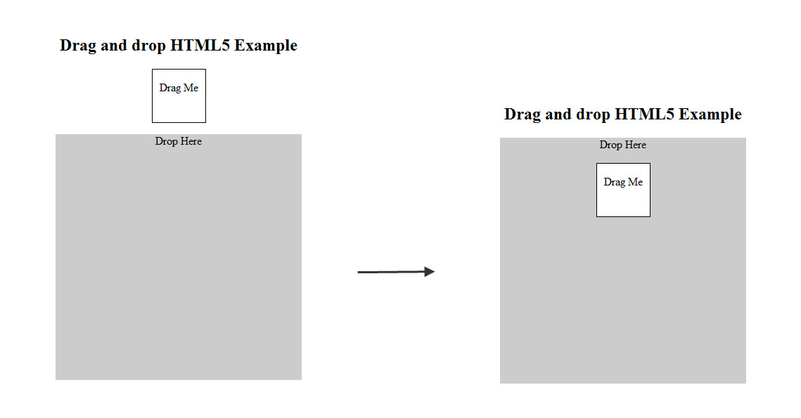 html5 file drag and drop example