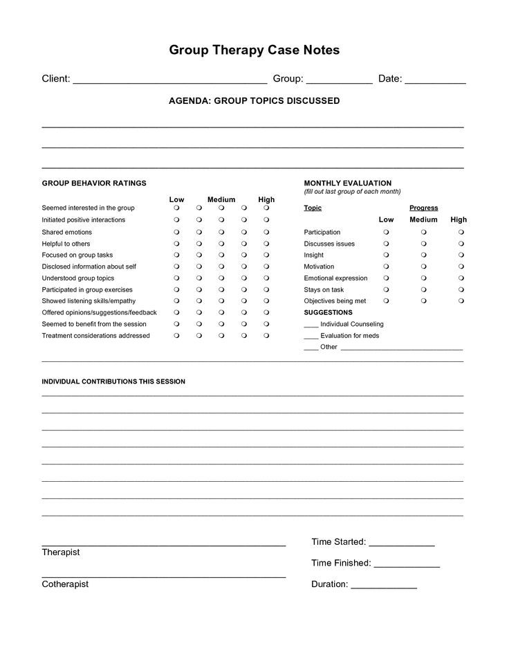 case note example social work