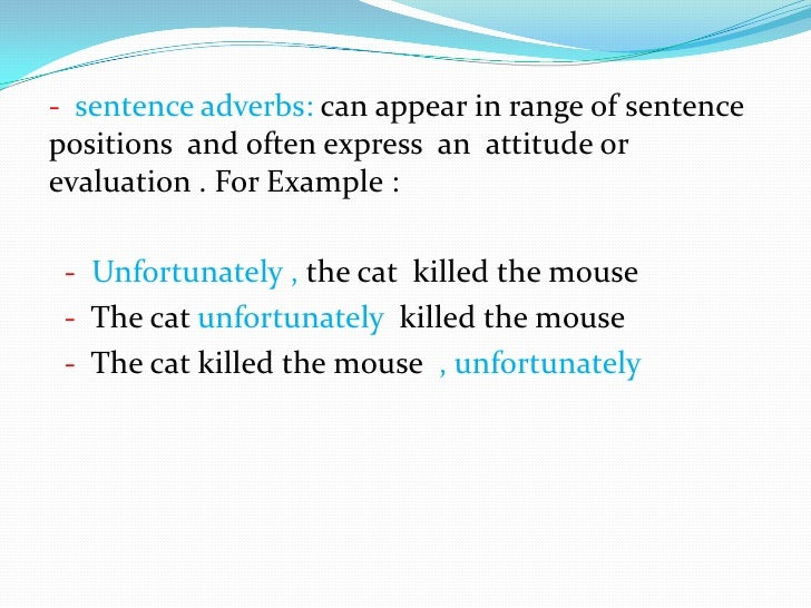 adverb phrase example in a sentence