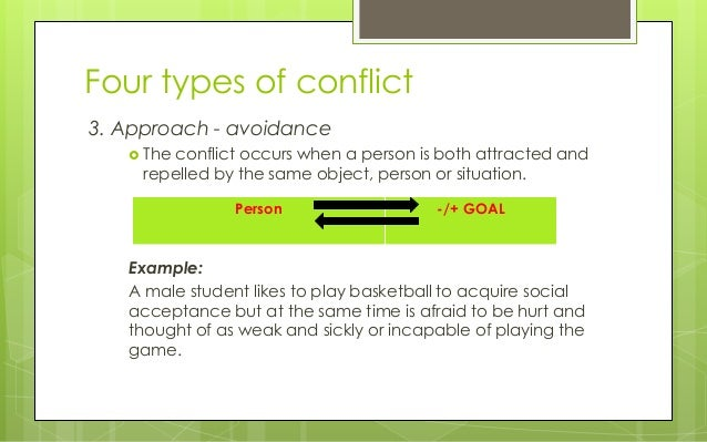 give an example double approach-avoidance conflict