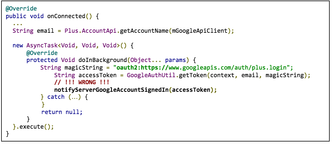 google plus login in android example