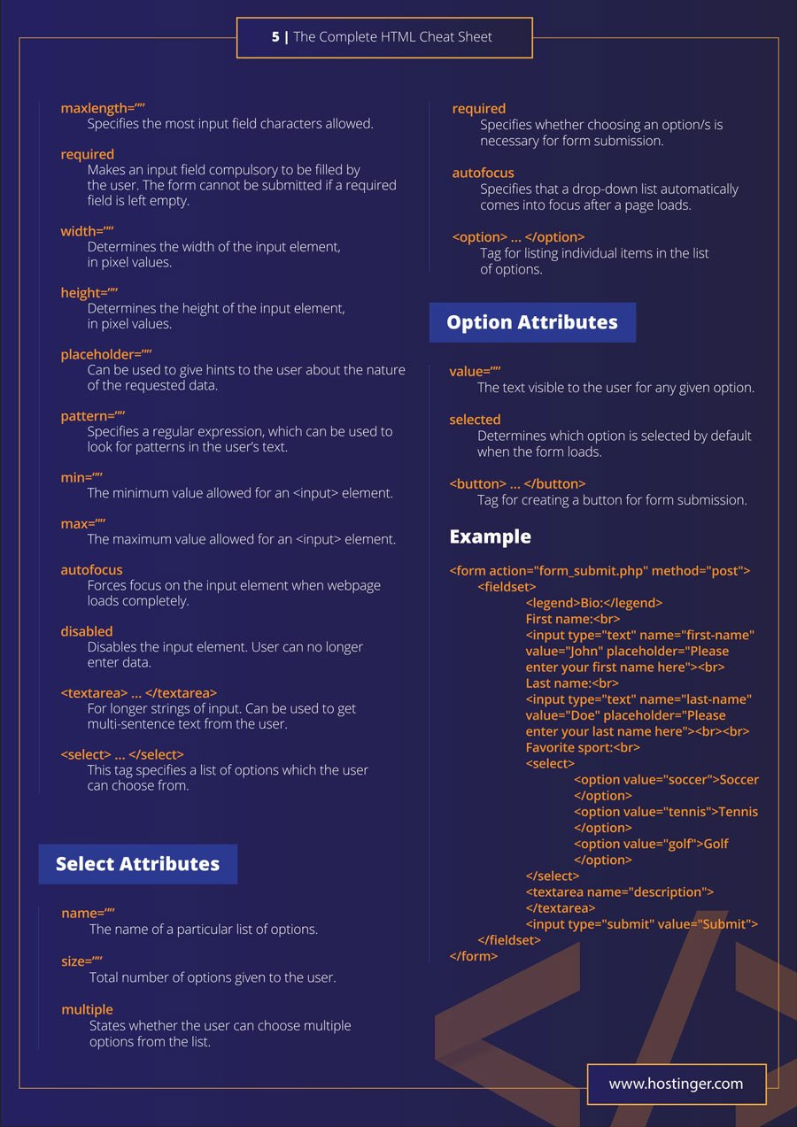 html tags with syntax and example pdf