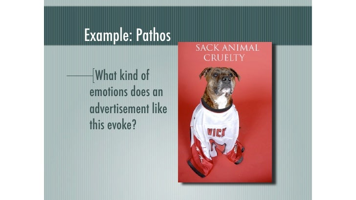 which of these is an example of pathos